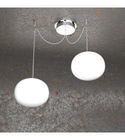 Sospensione 2 luci Soft 1092/S2 Top Light Ø18