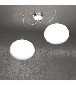 Sospensione 2 luci Soft 1092/S2 Top Light Ø28cm