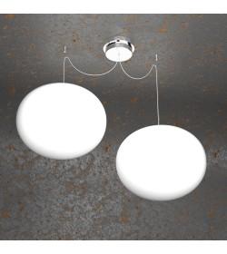Sospensione 2 luci Soft 1092/S2 Top Light Ø35cm
