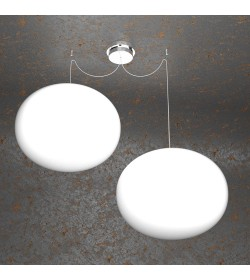 Sospensione 2 luci Soft 1092/S2 Top Light Ø45cm
