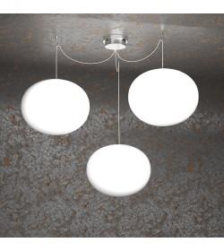 Sospensione 3 luci Soft 1092/S3 Top Light Ø35cm