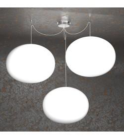 Sospensione 3 luci Soft 1092/S3 Top Light Ø45cm