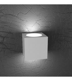 Applique Led 2 luci Plate Top light grigio