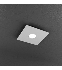 Plafoniera Led 1 luce Plate Top light grigio