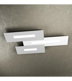 Plafoniera Led Wally Top Light 80 cm bianco/grigio