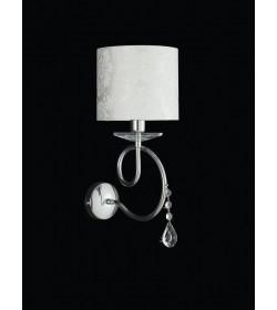 Applique 1 luce cromo con cristalli Tiffany Bonetti BL96/AP1