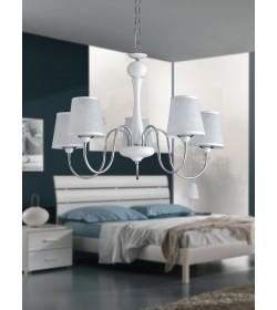 Sospensione 5 luci bianca Narciso Bonetti BL113/5