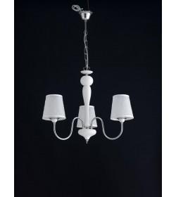 Sospensione 3 luci bianco e cromo Narciso Bonetti BL113/3