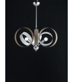 Sospensione 3 luci metallo laccato Bolla Bonetti BL114/3 vari colori