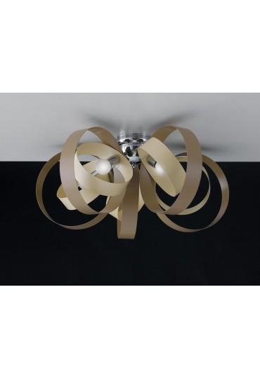 Plafoniera 5 luci metallo laccato Bolla Bonetti BL114/PL5 vari colori