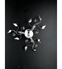 Plafoniera 3 luci metallo cromato e cristallo Gemma Bonetti BL71/PL3