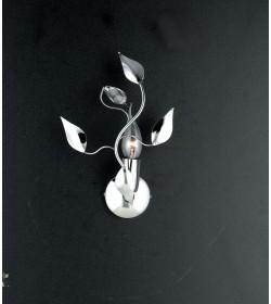 Applique 1 luce metallo cromato e cristallo Gemma Bonetti BL71/AP1