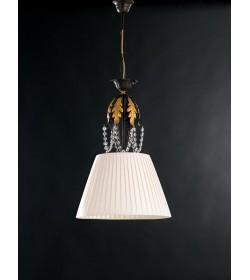 Lampadario 1 luce in ferro battuto e strass Barocco Bonetti BL108/1
