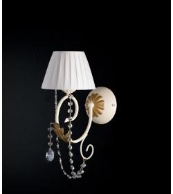 Applique 1 luce in ferro battuto e strass Barocco Bonetti BL108/AP1
