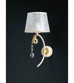 Applique 1 luce in ferro battuto e strass Dely Bonetti BL122/AP1