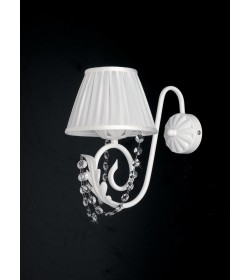 Applique 1 luce in ferro battuto e strass Damasco Bonetti BL77/AP1
