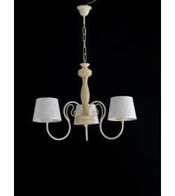 Lampadario 5 luci in ferro battuto e legno Provenzale Bonetti BL117/5