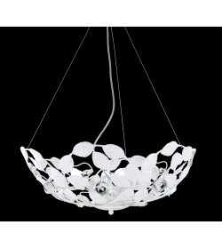 Lampadario 4 luci in ferro laccato e strass Sara Bonetti BL85/4