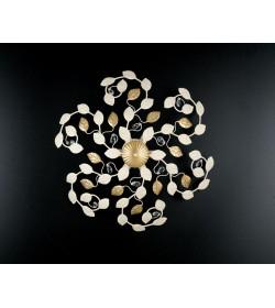Plafoniera 6 luci in ferro e strass Gardenia Bonetti BL111/PL6