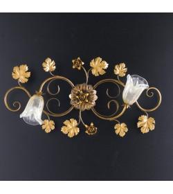 Plafoniera 2 luci in ferro battuto Iris Bonetti BL51/PL2