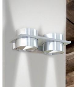 Applique in alluminio 2 luci biemissione Eolo 3345 Contemporanea