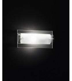 Applique cromo e vetro 12x25cm Perenz 5476