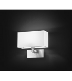 Applique 1 luce con paralume in pvc bianco Perenz 5880