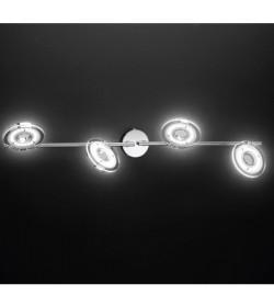 Faretto 4 luci Led cromo lucido Perenz 6188