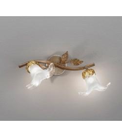 Faretto classico 2 luci in ferro ruggine Perenz 5306