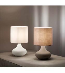 Lampada da tavolo in metallo e stoffa Perenz 6504 2 colori