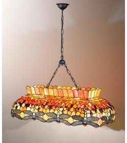 Lampadario con catena 2 luci Tiffany Perenz T665 S
