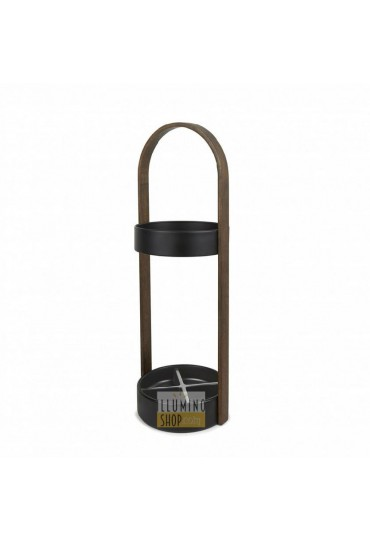 Porta ombrelli moderno Hub legno noce Umbra