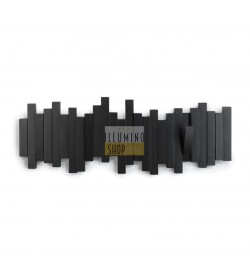 Appendiabiti da parete moderno Sticks plastica nero Umbra