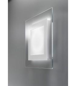 Applique plafoniera Led vetro 30x30 Space Antea Luce