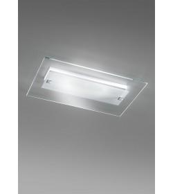 Applique plafoniera vetro flat led vetro 16x10 antea luce for Plafoniere a led