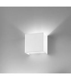 Applique Linear metal white 9x9 Antea Luce