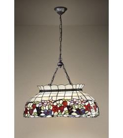Lampadario con catena 3 luci Tiffany Perenz T994 S