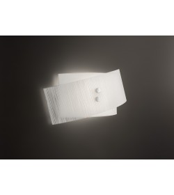 Applique Fold vetro bianco 42 cm Antea Luce