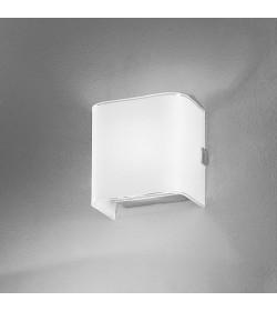 Applique Linear white vetro 10cm Antea Luce