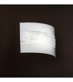 Applique in vetro curvo 32cm Vintage Antea Luce