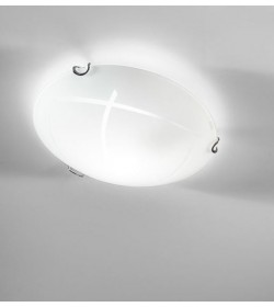 Applique plafoniera bianca Ø30 cm Segno Antea Luce