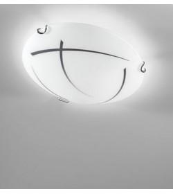 Applique plafoniera bianco/nero Ø30 cm Segno Antea Luce