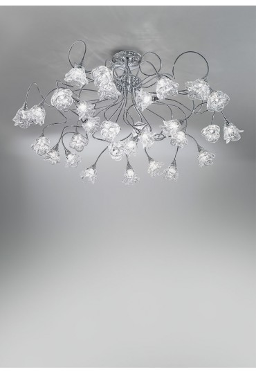 Plafoniera 30 luci Magnolia cromo Antea Luce