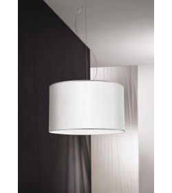 Sospensione Zuna bianca Ø40 cm Antea Luce