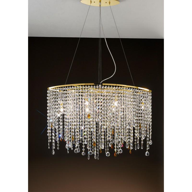 Sospensione cristallo Alyssa Gold 80cm Antea Luce