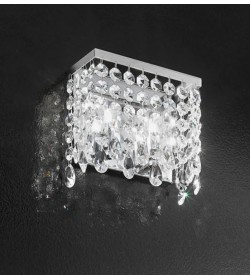 Applique Fair 20cm con pendenti in cristallo Antea Luce