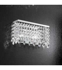 Applique Fair 30 cm con pendenti in cristallo Antea Luce