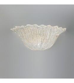 Applique Raggio di sole 37cm vetro graniglia ambra Antea Luce