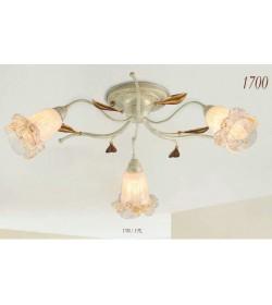 Plafoniera 6 luci ferro battuto avorio 1700/3 PL Via Dese Lam Export