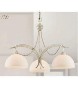 Lampadario 3 luci ferro battuto 1720/3 Via Dese Lam Export